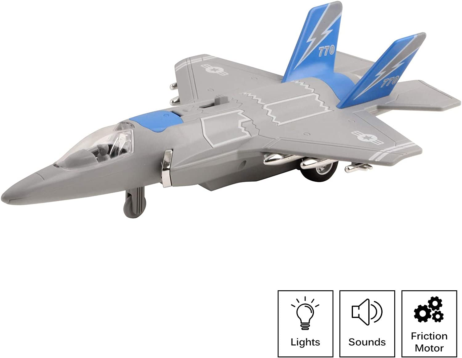 Amazon Com Vokodo Army Air Force Fighter Jet F 22 Toy Military