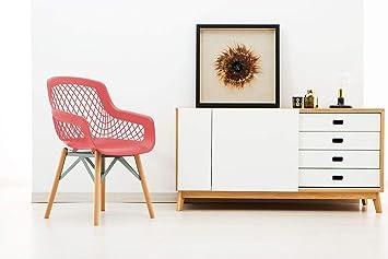 One Couture Stuhl 2er Set Esszimmerstuhl Küchenstuhl Kunststoff Holz