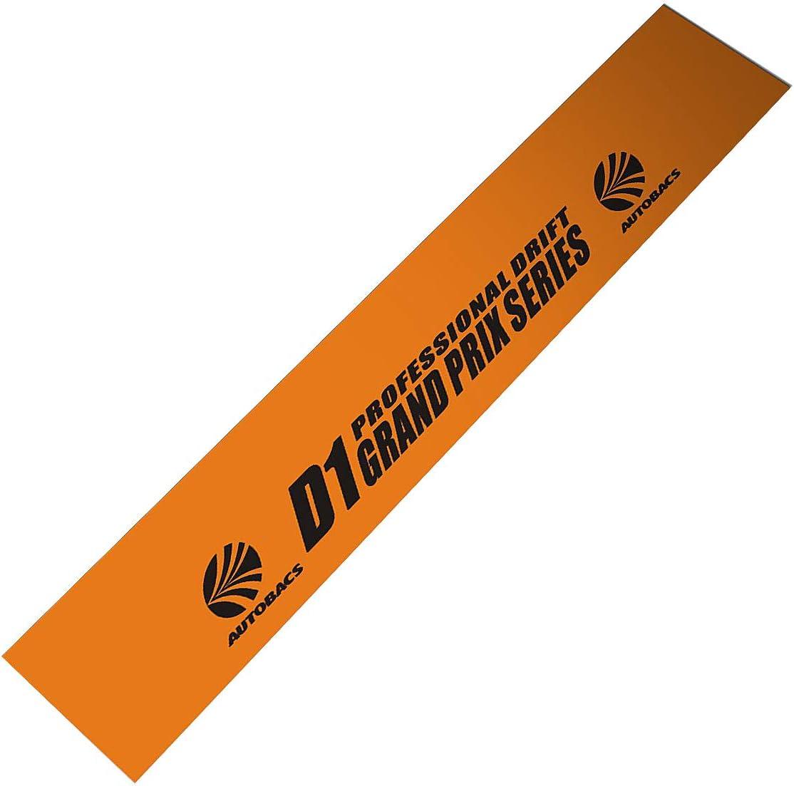 Orange Background Demupai Front Windshield Banner Decal Windscreen Sticker for D1 Drift