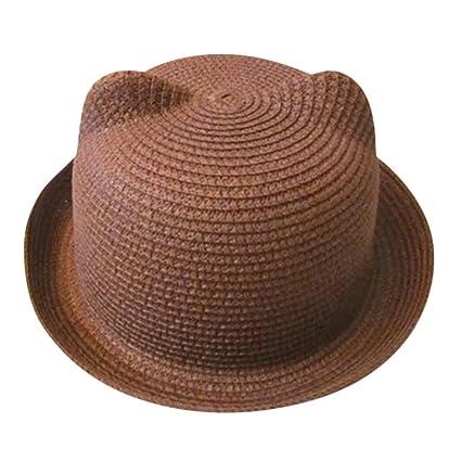 97005176f615a ZARLLE Sombrero Del Bebe Cap Los NiñOs Sombrero De Paja Transpirable Hat  Kids Hat Boy Girls