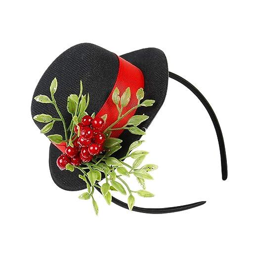 99bb3f432ada7 Amazon.com  Butterfly Craze Christmas Headband with Mistletoe ...