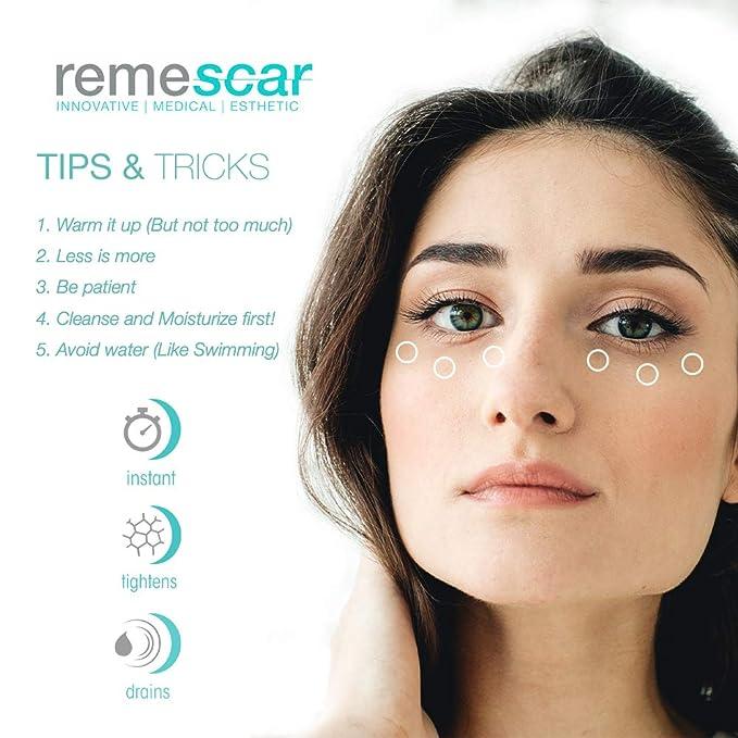Remescar - Bolsas y ojeras - Crema para las bolsas de los ojos - Corrector de ojeras - Elimina las bolsas - Tratamiento para las bolsas de los ojos al ...