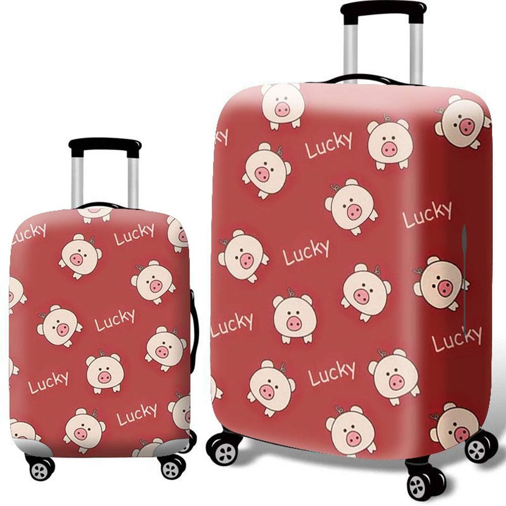 18-21 Oureong Luggage Cover 3D Print Thick Waterproof Elastic Suitcase Protector Travel Luggage Cover Fit for 18-32 Inch Luggage Anti-Scratch Dustproof Suitcase Cover Color : Duck, Size : S
