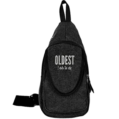 Oldest I Make The Rules Fashion Men's Bosom Bag Cross Body New Style Men Canvas Chest Bags low-cost