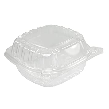 Dart Solo Small Clear Plastic Hinged Food Container For Sandwich Salad  Party Favor Cake Piece,