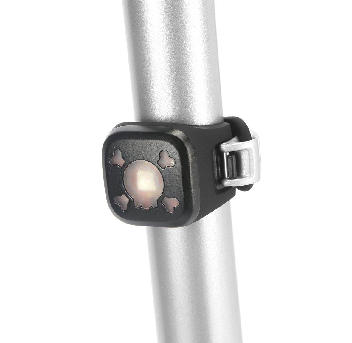 Knog Batteriebeleuchtung Blinder 1 rote LED Licht, Skull