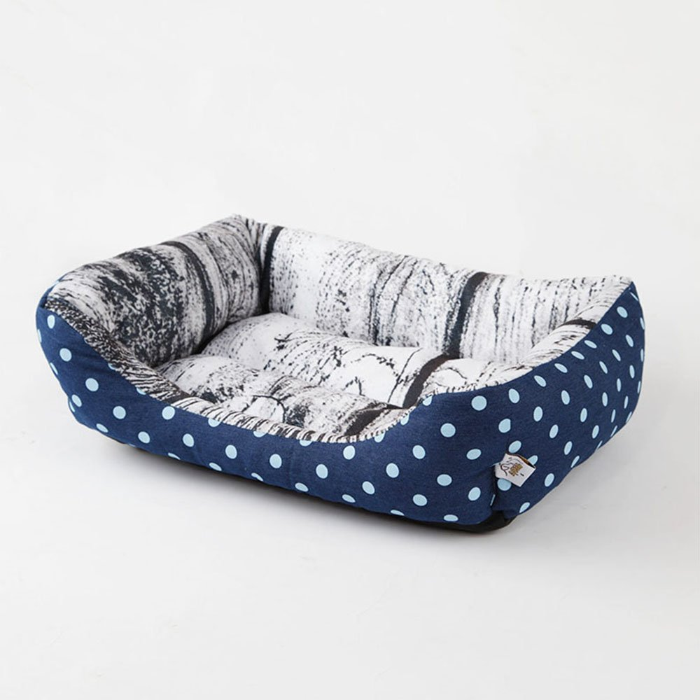 2 Medium 2 Medium Pet Bed Dog Beds Cat Beds Washable with Removable Mattress Fleece Plush Cushion Kennel Pets Nest Basket,2,M