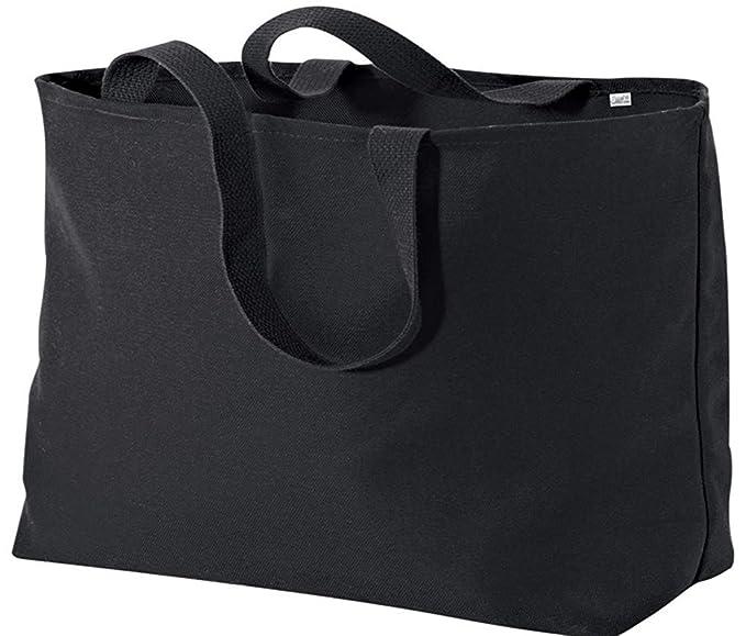 b5b112725 Amazon.com: Gravity Threads Jumbo Oversized Tote Bag - Black: Clothing