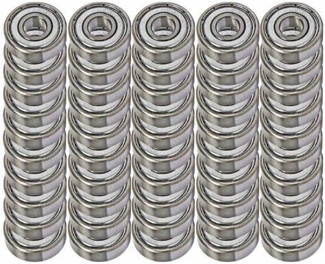 50 Shielded Bearing R4ZZ 1//4 x 5//8 x 0.196 inch Miniature Ball Bearings VXB Brand