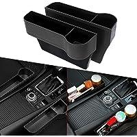 Elikliv 2x Car Seat Gap Catcher Organizer Storage Box Pocket w/Cup Holder Side Black