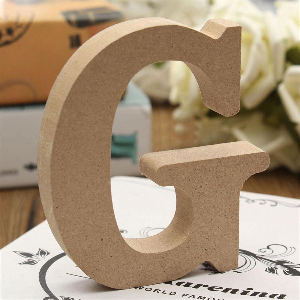 ZHOUBA Freistehende Holz-Z Holz-Buchstaben Alphabet zum Hochzeit Home Party Decor, holz, holzfarben, x