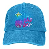 Qevenon-08 Men's/Women's No Bad Days Tie Dye Pineapple Yarn-Dyed Denim Baseball Cap Adjustable Hip-hop Cap