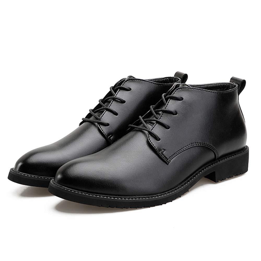 JIALUN-Schuhe Men's Simple Business Oxford Oxford Oxford Casual Herbst und Winter Neue warme Baumwolle High-Top Formelle Schuhe (Farbe   Schwarz, Größe   42 EU)  609cbc