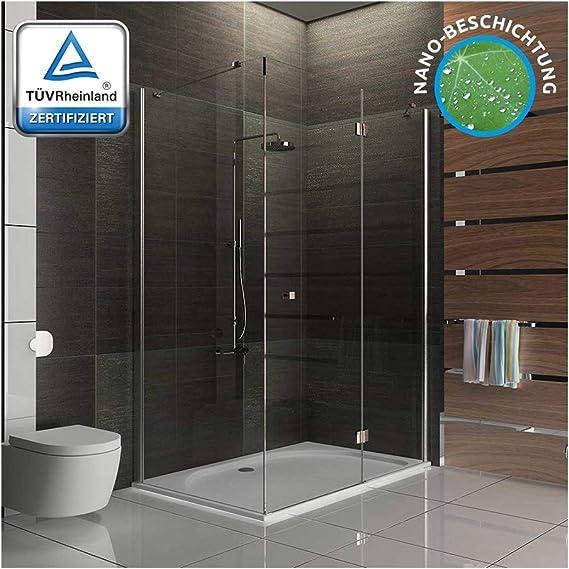 Cabina de ducha 80 x 120 cm con al nano-recubrimiento Apertura Izquierda y Derecha Lado básico de Seguridad ESG Nano Cristal y cuadrada ducha puerta giratoria de Alpen Berger: Amazon.es: Bricolaje y