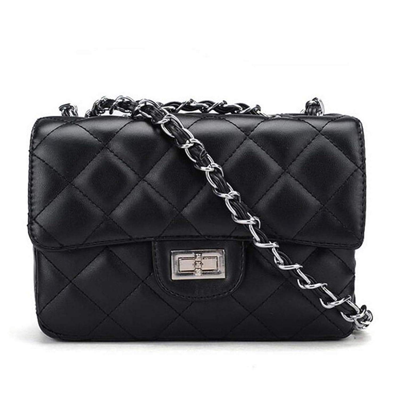 Handtasche Damen klein elegant Vintage Clutch fü r Abendgarderobe Abendtasche aus Kunstleder mit integriertem Geldbeutel Schwarz 097191