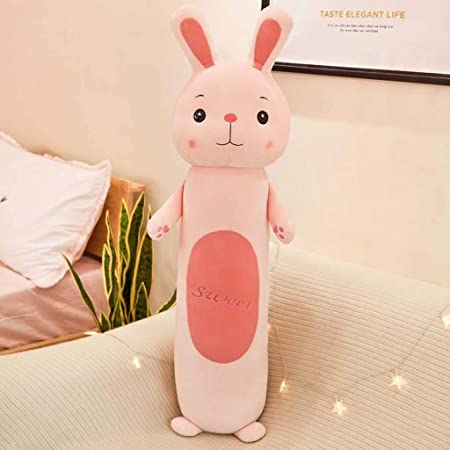 Amazon Com Linwei Kawaii Animals Cylindrical Plush Pillow Cartoon Long Animal Toy Lion Rabbit Frog Monkey Sleeping Bolster Gift For Children Color C Size 50cm Home Kitchen