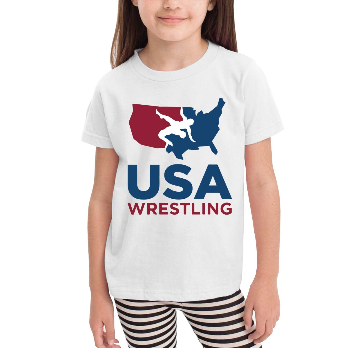 Onlybabycare USA Wrestling 100/% Cotton Toddler Boys Girls Kids Short Sleeve T Shirt Top Tee Clothes