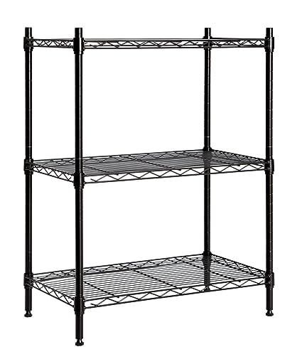 STORAGE MANIAC Large 3 Tier Shelving Unit, Heavy Duty Storage Rack Utility  Shelf With