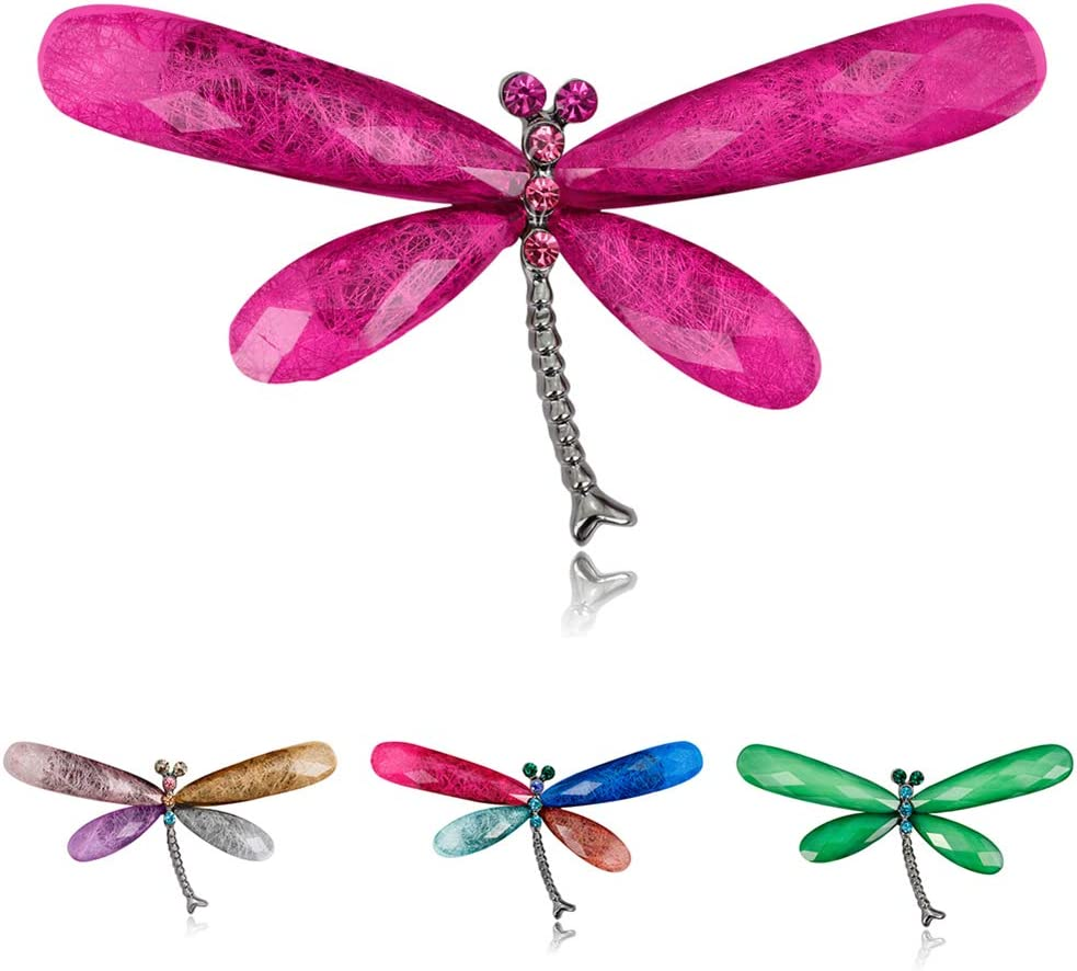 Pin Badges Brooches for Men Women,Fashion Rhinestone Dragonfly Womens Brooch Pin Dress Sweater Scarf Ornament D