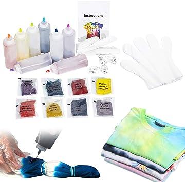 imoli Tie Dye Kit - 8 Colores Vibrantes Pinturas Textiles de Tela ...