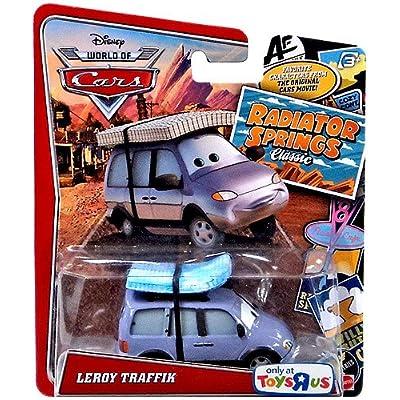 Disney/Pixar Cars, Radiator Springs Classic, Leroy Traffik Exclusive Die-Cast Vehicle, 1:55 Scale: Toys & Games