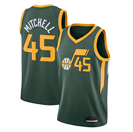 RTMJUNMA Hombre Mujer Ropa de Baloncesto NBA Jazz 45# Mitchell ...