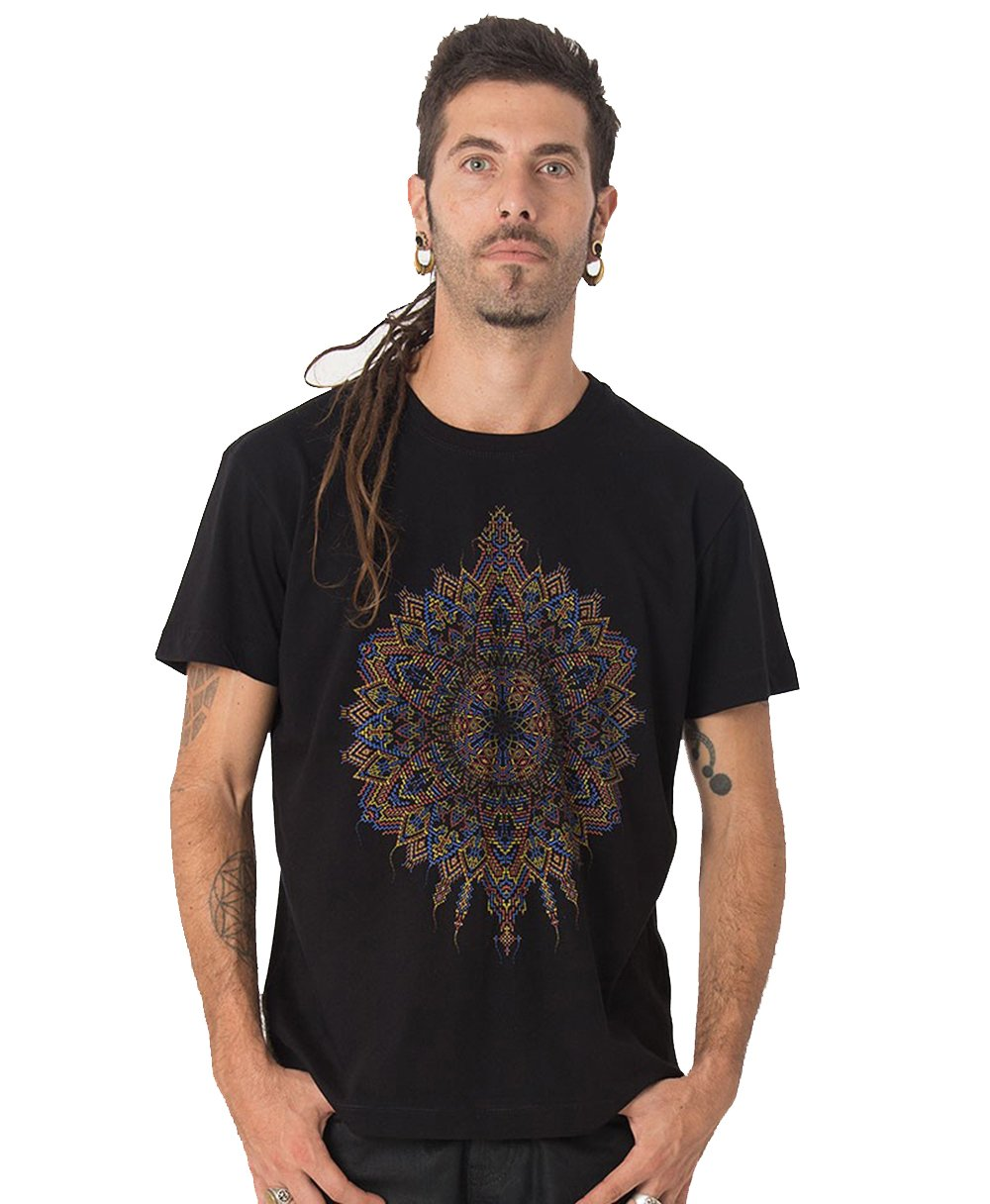Street Habit Mexica T Shirt With Exclusive Psychedelic Mandala Design 4645