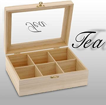 555Y41 - Caja Madera Para Te: Amazon.es: Bricolaje y herramientas