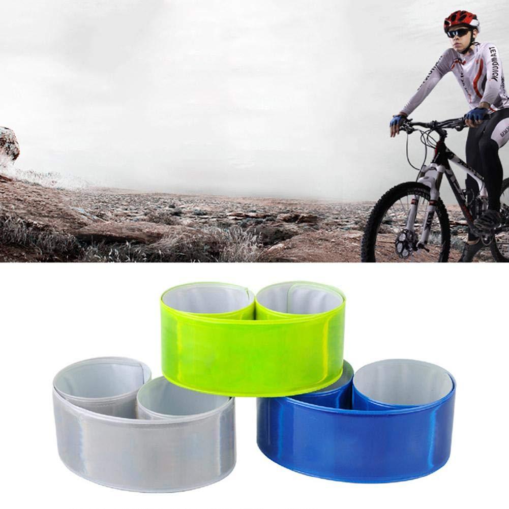 Wandern 4PCS Reflexband Reflektorb/änder f/ür Outdoor Jogging Motorrad-Reiten oder Laufen Reflektierende Sicherheits Armband Radfahren