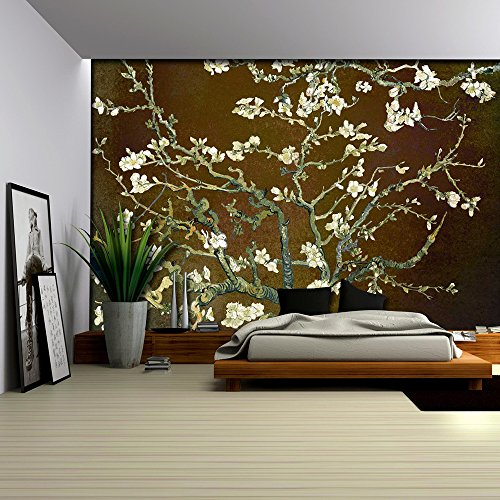 Copper with Rich Brown Almond Blossom by Vincent Van Gogh Wall Mural