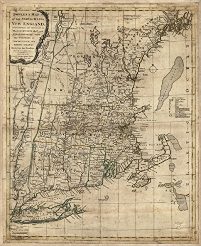 - Map: 1776 Bowles's of the seat of war in New England. Comprehending the provinces of Massachusets Bay, and New Hampshire; with the colonies of Connecticut and Rhode Island; divided into their township