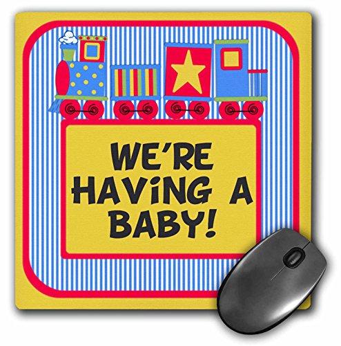 Train Announcement (3dRose TNMGraphics Baby Announcement - Baby Announcement Train Red and Blue - Mousepad (mp_222930_1))