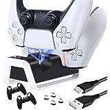 O controlador TwiHill é adequado para suporte do controlador sem fio PS5, base do controlador de jogo PS5, suporte duplo do c