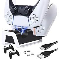 O controlador TwiHill é adequado para suporte do controlador sem fio PS5, base do controlador de jogo PS5, suporte duplo…