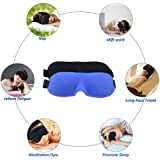 Aahadi Biz - New 3D Eye Mask – Premium Quality Eye Mask for Sleeping and Travel Eye Masks– Naturally Sits Around Your Eyes So It Protects Makeup and Eyelashes - Contoured and Adjustable for Superior Comfort – Lightweight and Breathable for Day and Night Use – Suitable for Adults and Children