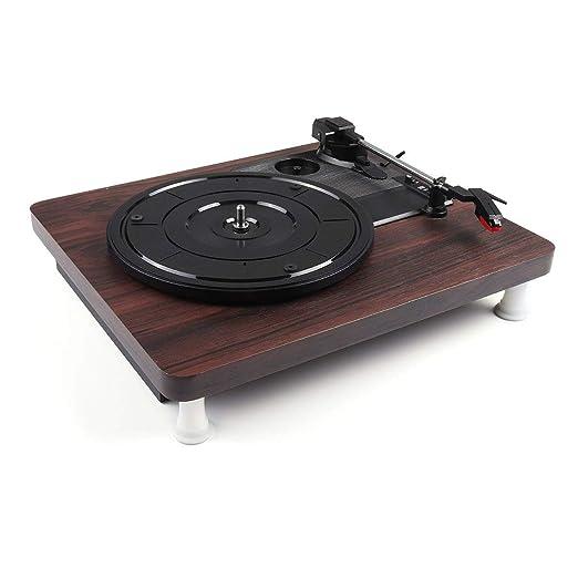 Reproductor de discos de vinilo 33, 45, 78 RPM Reproductor ...