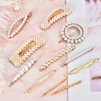 12 Pcs Pearls Hair Clips for Women Girls - Cehomi Fashion Korean Clips/Ties Bling Hairpins Headwear For Women girls and Ladies Headwear Styling Tools Accessories