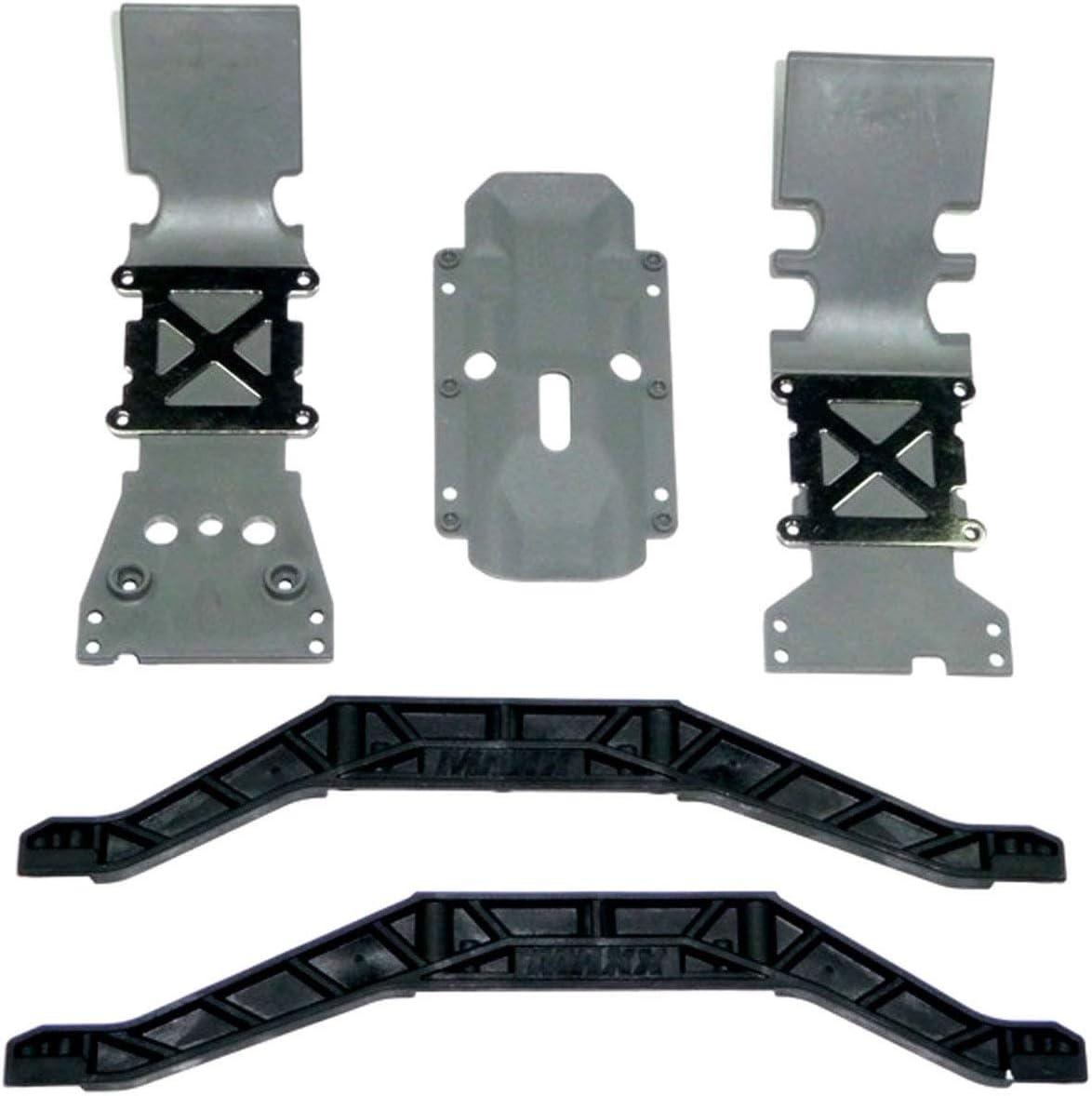 Brushless Traxxas Center Skid Plate Gray E-Maxx