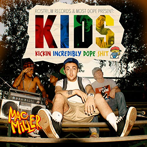 Lost Posters Album Cover Poster Thick MAC Miller: Kids Kickin Incredibly DOPE Shit giclee Record LP Reprint 12x12 by Lost Posters
