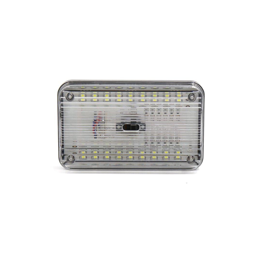 sourcingmap Bianco 36 SMD LED DC 12V rettangolare tetto a cupola luce di soffitto per interni auto sourcing map a16120900ux0770