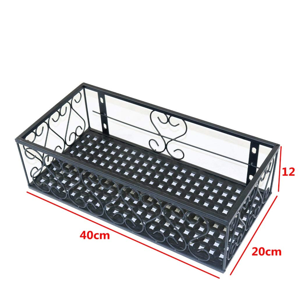 40CM Standing Flower Stand Plant Stand Iron Armrest Flower Stand Balcony Railing Hanging Plant Flower Stand Wall Pot Rack Hanger Decorative Frame (Size   100CM)