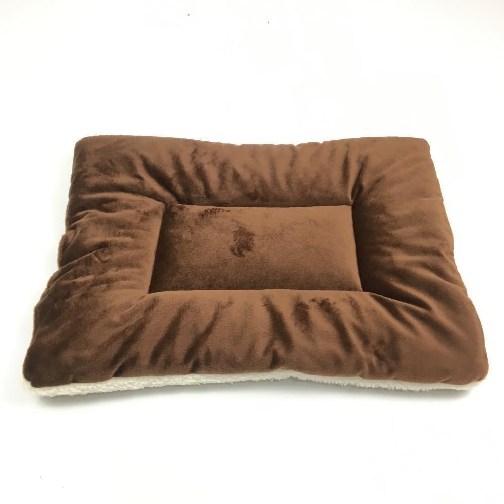 B 7055cmWUTOLUO Pet Bolster Dog Bed Comfort Kennel Pet mat warm lamb velvet cotton mat (color   A, Size   70  55cm)