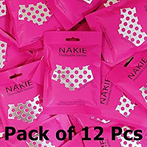 """Disposable Underwear for Women (Pack of 12) Premium Quality for Hip 32"""" - 40"""" Ship with Tracking Number"""