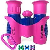 Kids Binoculars Pink 8x21 - Girls Gift Age 3-12