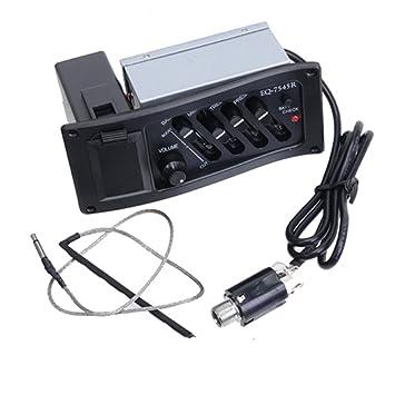 Ulable EQ-7545R - Amplificador de guitarra (6,5 mm, salida jack, caja eléctrica): Amazon.es: Instrumentos musicales