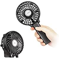 Mini Handheld Fan,EasyAcc USB Desk Fan Small Personal Portable Stroller Table Fan with 2600mAh Rechargeable Battery Operated Cooling Folding Electric Fan 3-15H Working Hours for Travel Office Outdoor