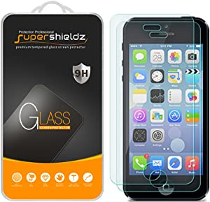 Supershieldz (2 Pack) for iPhone 4S and iPhone 4 Tempered Glass Screen Protector, Anti Scratch, Bubble Free