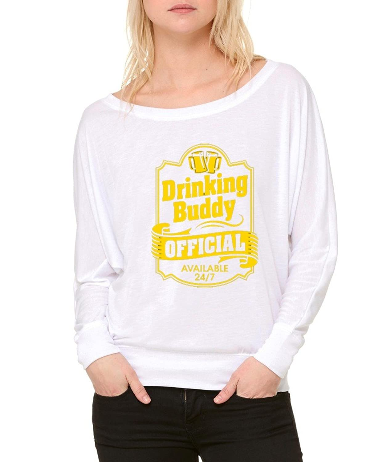 Best Drinking Buddy Long-Sleeve Official Beer Drinking Flowy Shirt