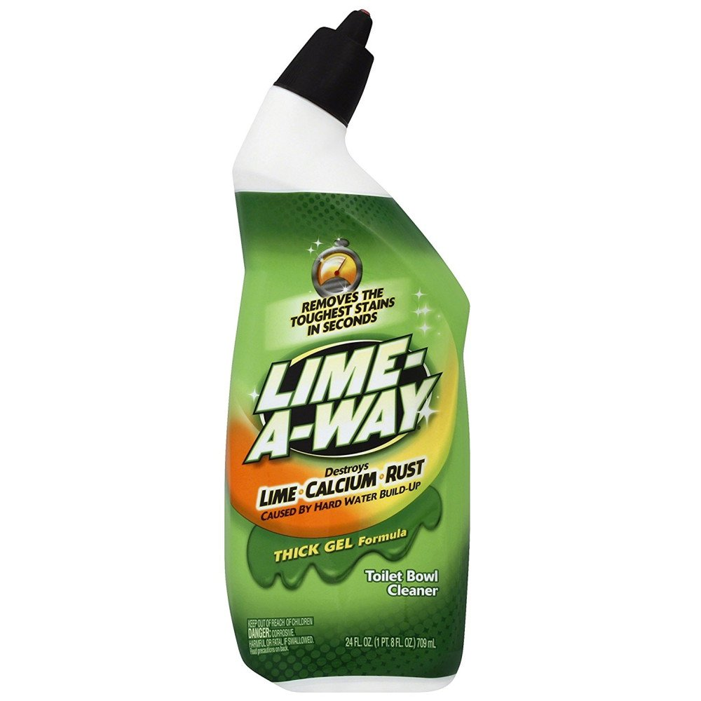 Lime-A-Way Liquid Toilet Bowl Cleaner, 24 fl oz Bottle, Removes Lime Calcium Rust (Pack of 12)