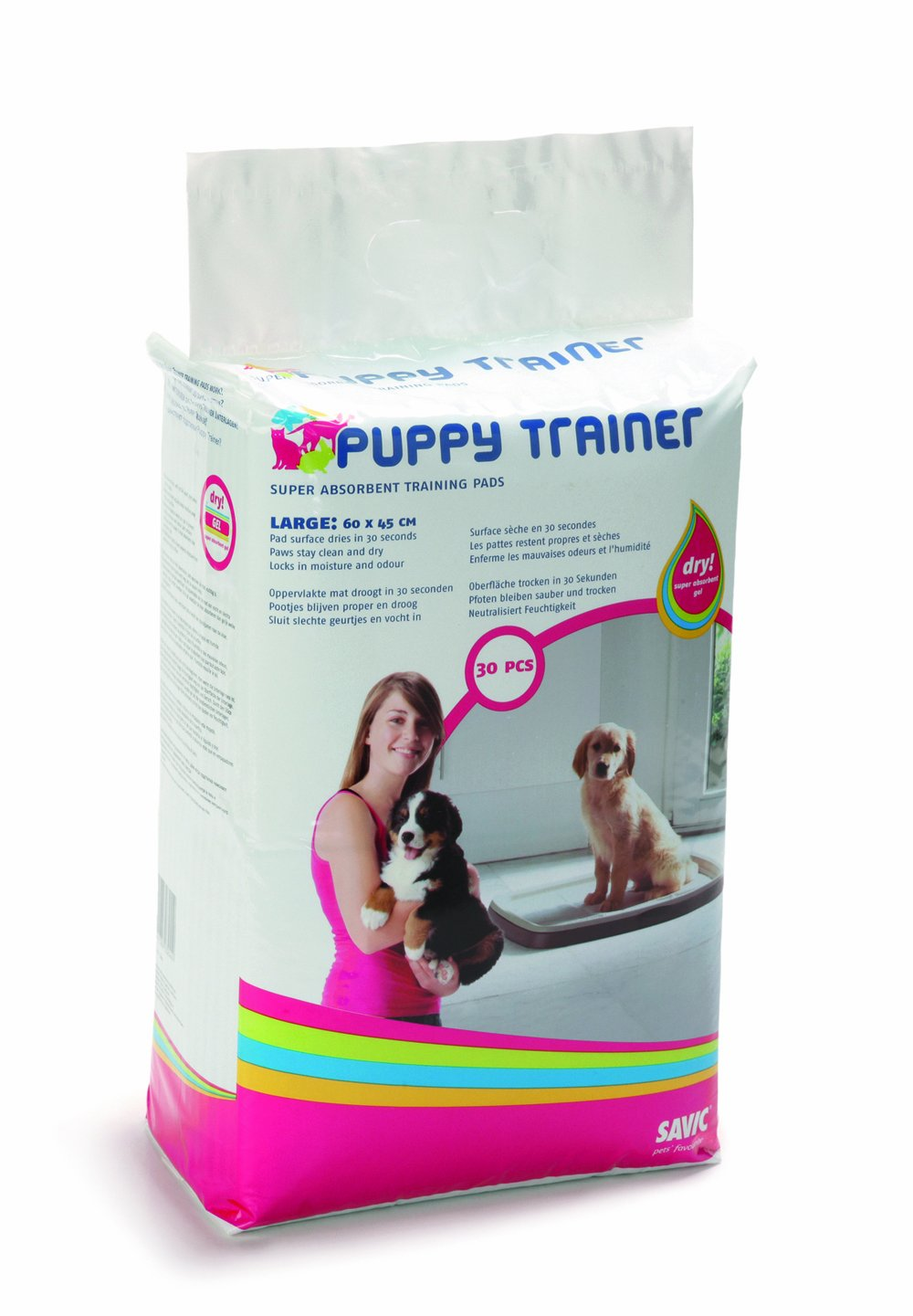 SAVIC EMPAPADOR TRAINER LARGUE 30 uds.: Amazon.es: Productos para mascotas